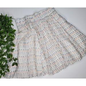Zara Size M A-line White Skirt
